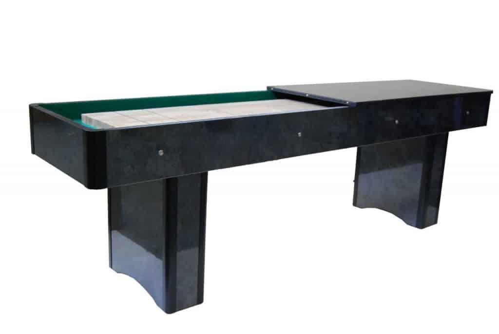 Pöytäcurling eli suffleboard pöytä sopii koulu ja nuorisotilojen käyttöön